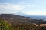 Mt Athos from Kalamatsi viewpoint Halkidiki, Greece