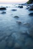 Rocks in sea portrait long exposure - 221306794
