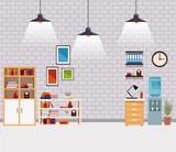 Office interior scenery - 221308168