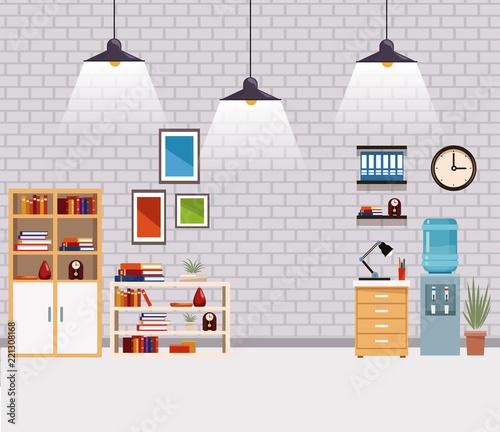 Office interior scenery