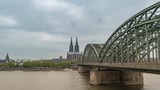 Cologne, Germany time lapse 4K, city skyline timelapse at Cologne Cathedral (Cologne Dom) - 221311578