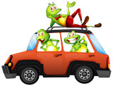 Frog on the car - 221313167