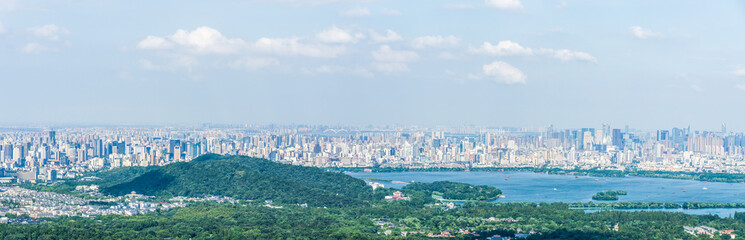 panoramic city skyline in hangzhou china © THINK b