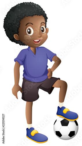 An African football player