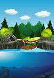 A nature lake background - 221315163
