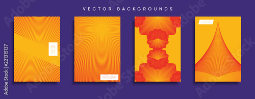 Poster Vector cover designs. Future Poster template. Smartphone modern background set.