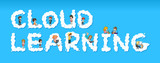 People on the cloud learning font - 221315504