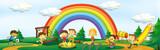 Children playing at playground - 221315526