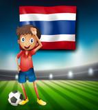 Thai football player at stadium - 221315556