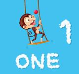 Monkey juggling one ball - 221315592