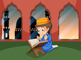A muslim boy study at mosque - 221315593