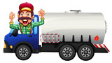 A Tank truck and driver - 221315996