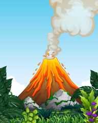 A dangerous volcano eruption © GraphicsRF