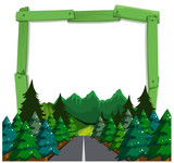 A forest wooden frame - 221317322