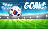 A South Korean soccer ball flag - 221317399
