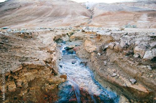 Namafjall Hverir geothermal area, macro photo - 221317592