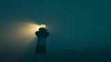 Lighthouse light spining around. Loopable animation. - 221327190