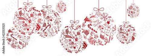 Christmas doodles ball