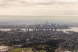 New York City. Aerial views of the Manhattan Skyline from a flight - 221338337