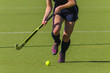 Hockey Action Girl Ball Stick Abstract