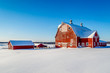 Minnesota Small Farm Perched on a Snowy Hill