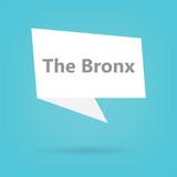 The Bronx word on a speech bubble- vector illustration