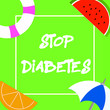 Leinwanddruck Bild - Text sign showing Stop Diabetes. Conceptual photo Blood Sugar Level is higher than normal Inject Insulin.