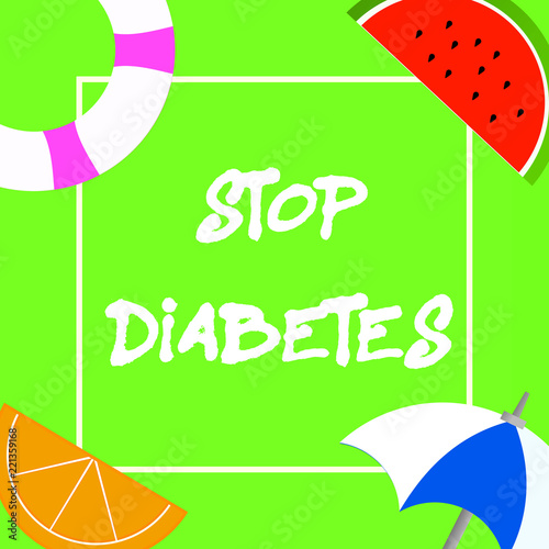 Leinwanddruck Bild Text sign showing Stop Diabetes. Conceptual photo Blood Sugar Level is higher than normal Inject Insulin.