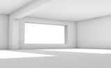 White abstract interior background. 3d render - 221369569