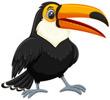 A toucan on white backgroud - 221370324