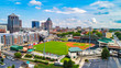 Aerial View of Downtown Greensboro North Carolina NC Skyline