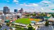Aerial View of Downtown Greensboro North Carolina NC Skyline