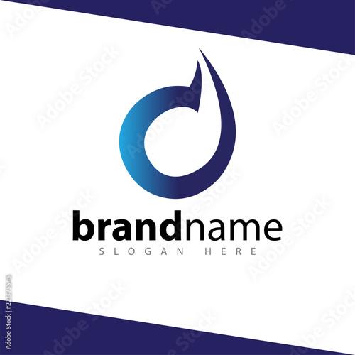 Fototapeta d letter abstract logo design stock template