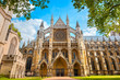 Leinwanddruck Bild - Westminster Abbey Church in London, UK