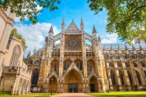 Leinwanddruck Bild Westminster Abbey Church in London, UK