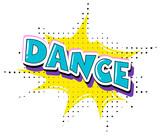 Fun dance retro text - 221377770
