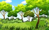 green outdoor park scene - 221377969