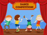 Children dance competition scene - 221377989