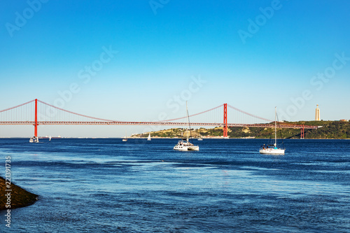 Fridge magnet Bridge over the Tagus in Lisbon