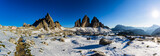 Tre Cime di Lavaredo, Drei Zinnenin beautiful panorama with surroundings in autumn scenery, the Dolomites in Italy, Europe. - 221392328