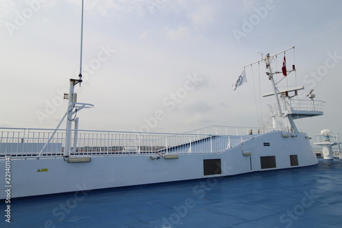 Upper deck of passenger ship