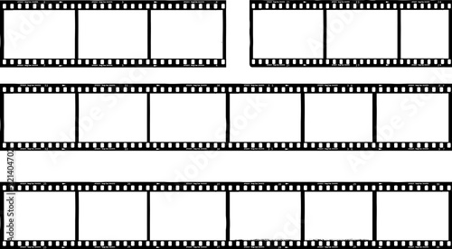 Fototapeta photographic film,film stripes, photo frames, free copy space,vector