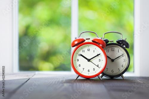 Clocks on window sill - 221408132