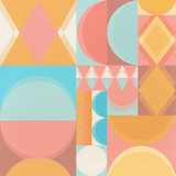 geometric vintage background with texture