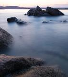 Rocks of Karidi beach at Vourvourou, Greece - 221423535