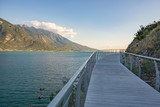 Bicycle road and footpath over Garda Lake - 221425130