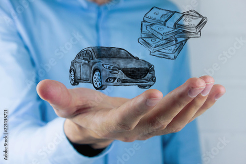 ..Money and business concept car - 221436721