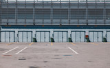The National Autodrome of Monza - Pit Stop Lines and Garage Area in an Empty Race Track - Monza Circuit in Lombardy - Italy 2. - 221439117