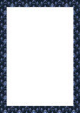 White Frame with Decorated Blue Borders - 221451749