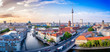 Leinwandbild Motiv panoramic view at the berlin city center